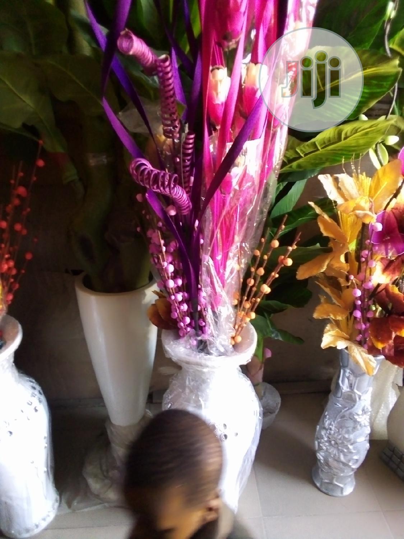 Archive: Unique Fibre Flower Vase With Beautiful Flowers