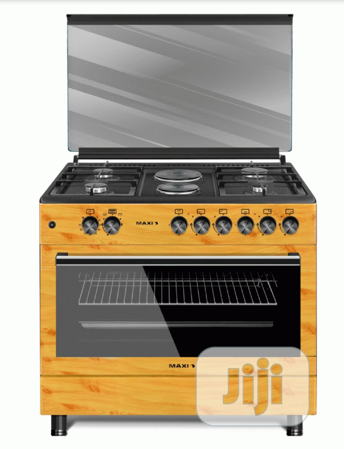 Brand New MAXI Gas Cooker Style 60 * 90 TR (4+2) WOOD   Kitchen Appliances for sale in Ojo, Lagos State, Nigeria