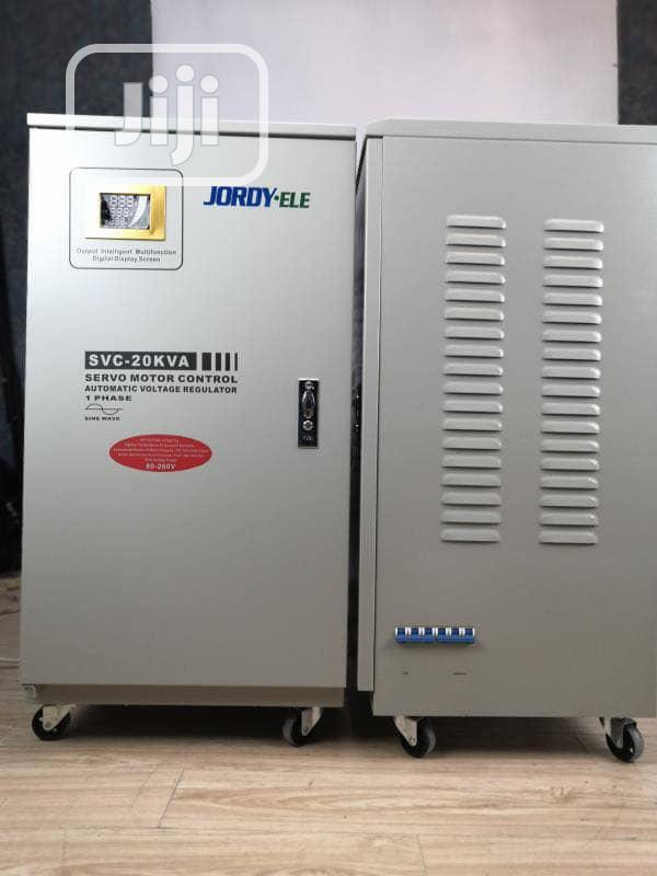 20KVA Single Phase Servo Central Industrial Stabilizer (80v-280v)   Electrical Equipment for sale in Amuwo-Odofin, Lagos State, Nigeria