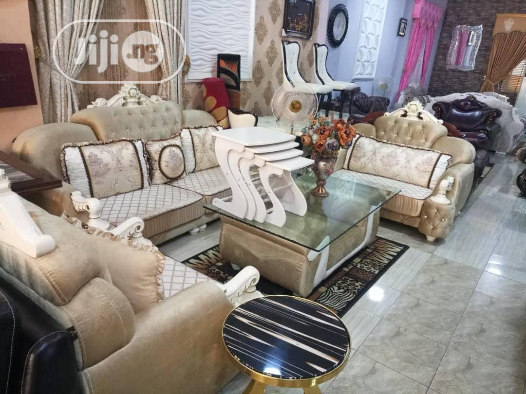 7seater Royal Fabric Sofa Chair.Imported From Turkey