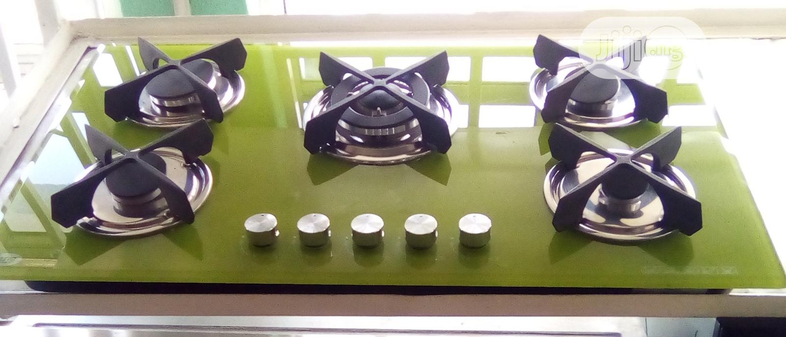 Gas Hob With 5 Burners, All Gas