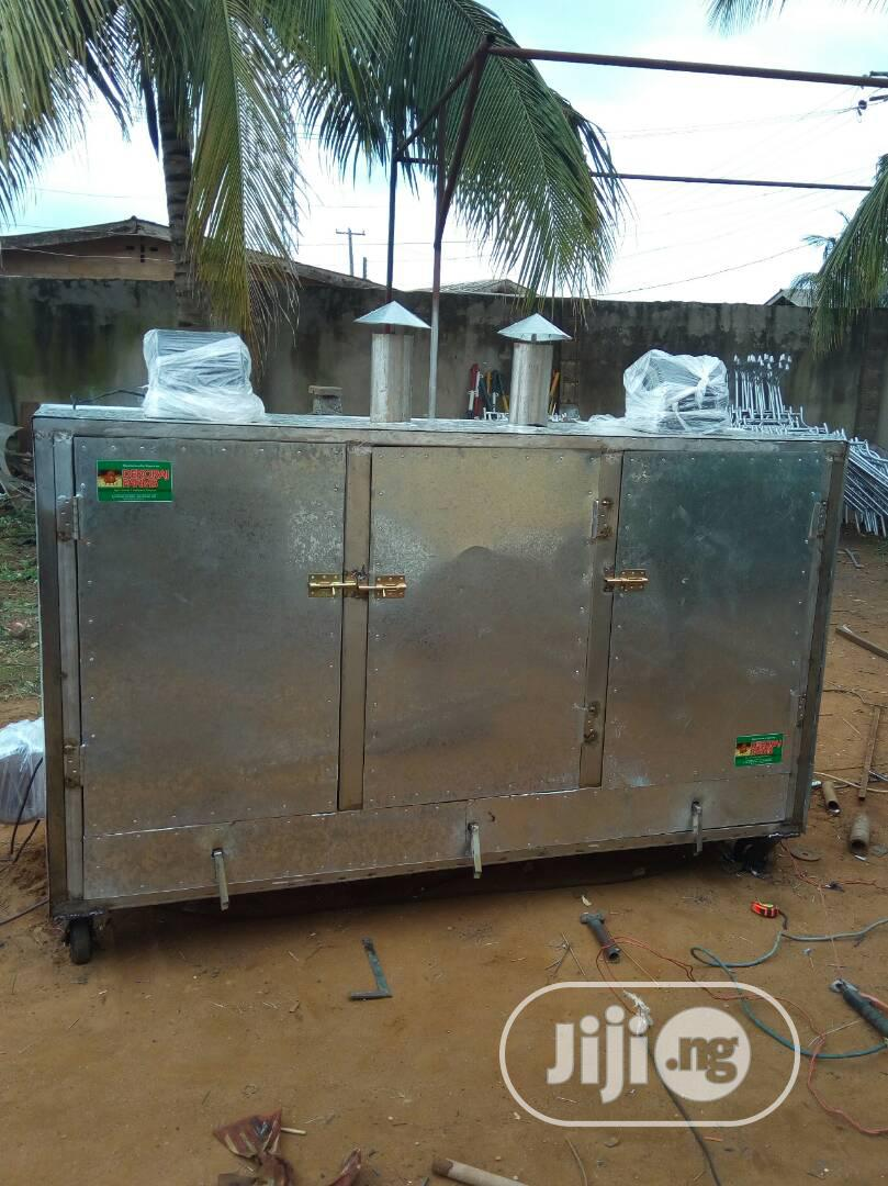 500 ×1kg Size Stainless Interior Fish And Plaintain Smoking Kiln/Oven