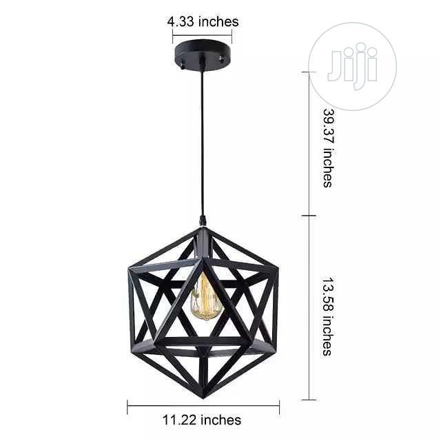 Nordic Minimalist Pendants Diamond Black Light | Home Accessories for sale in Lagos Island (Eko), Lagos State, Nigeria