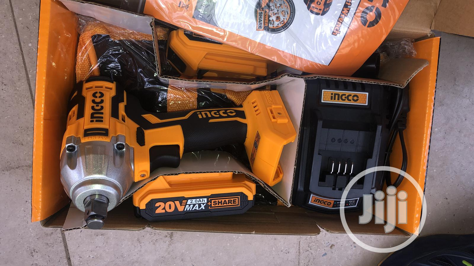 Ingco Cordless Impact Wrench Double Batteries 20v