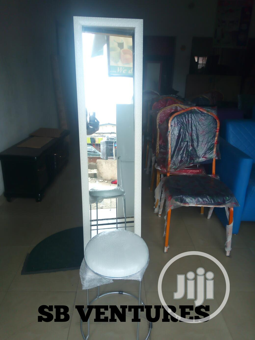 Standing Mirror And Stool | Home Accessories for sale in Isolo, Lagos State, Nigeria