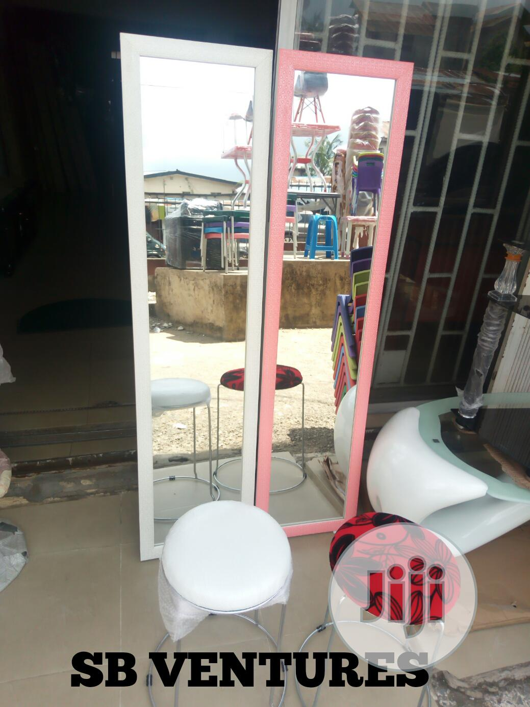 Standing Mirror And Stool