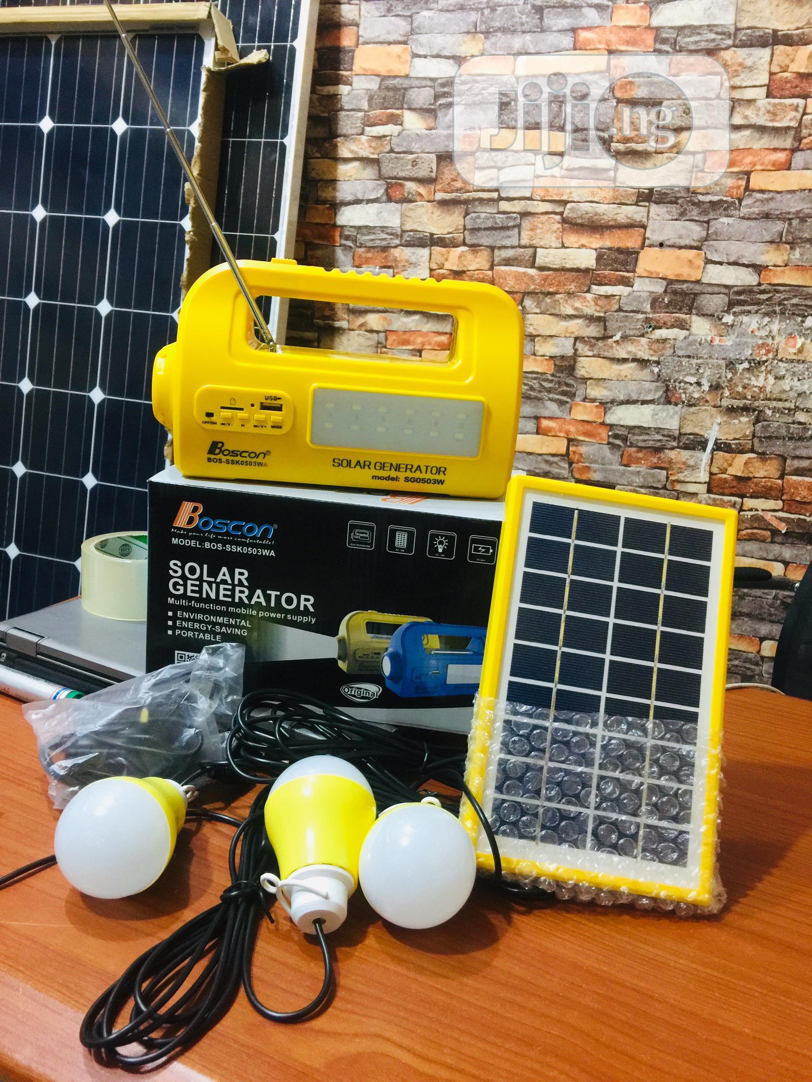 BOSCON Solar Generator Kit With Radio