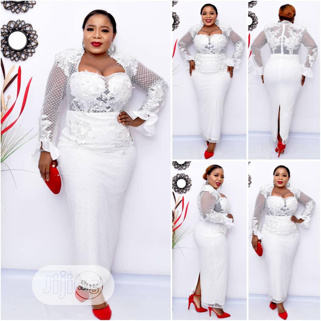 New Quality Female White Turkey Dinner Gown