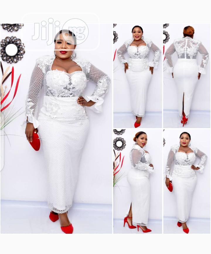 New Quality Female White Turkey Dinner Gown | Clothing for sale in Amuwo-Odofin, Lagos State, Nigeria
