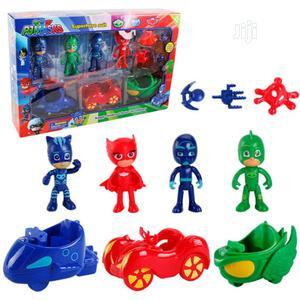 10 PCS/Set PJ Masks Toys Doll With Scooter Box Catboy Owlette Gekko Fi   Toys for sale in Lagos State, Amuwo-Odofin