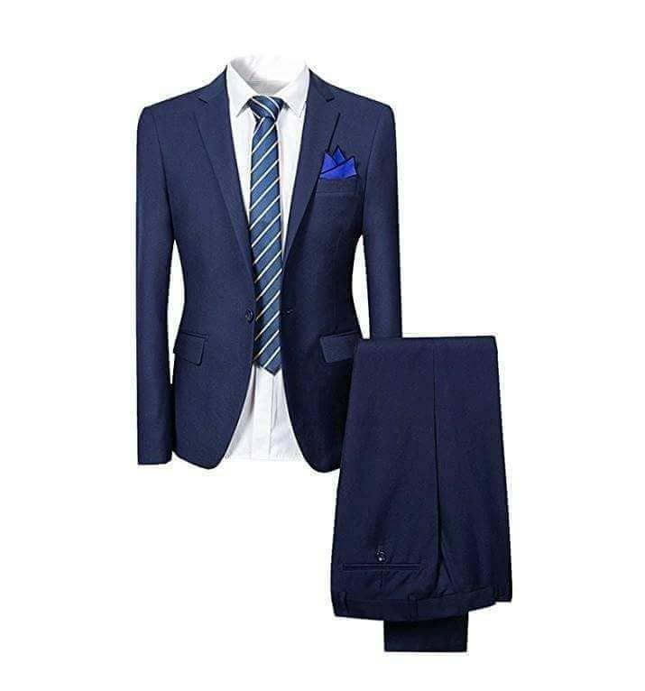 Office Slim Fit Suit Navy Blue
