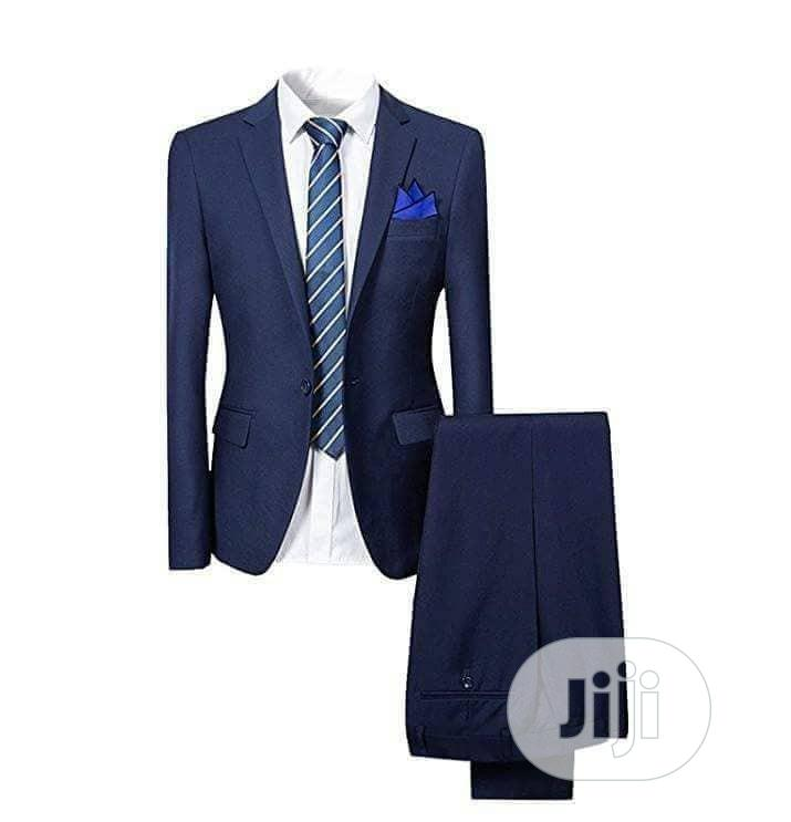 Office Slim Fit Suit Navy Blue | Clothing for sale in Lagos Island, Lagos State, Nigeria