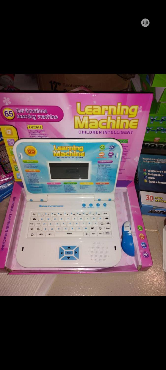 Children Learning Laptop With Mouse
