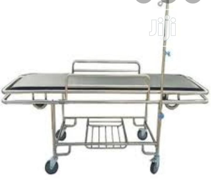 Patient Trolley With Headrest   Medical Supplies & Equipment for sale in Lagos Island (Eko), Lagos State, Nigeria