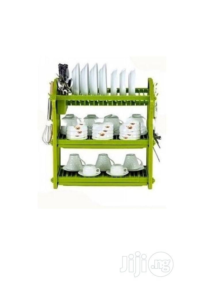 3 Layer Dish Rack (Never Rusty)- For Kitchen Dinning