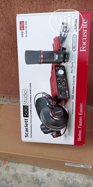 Focusrite Scarlett 2i2 2nd Gen Studio Mic Pack   Audio & Music Equipment for sale in Lagos State, Ojo