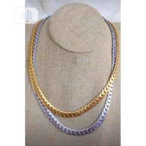 Cuban Silver and Gold Chain   Jewelry for sale in Lagos State, Surulere
