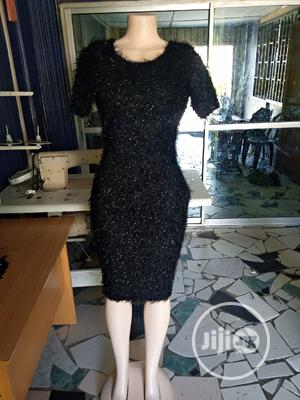 Black Fluffy Gown   Clothing for sale in Lagos State, Amuwo-Odofin