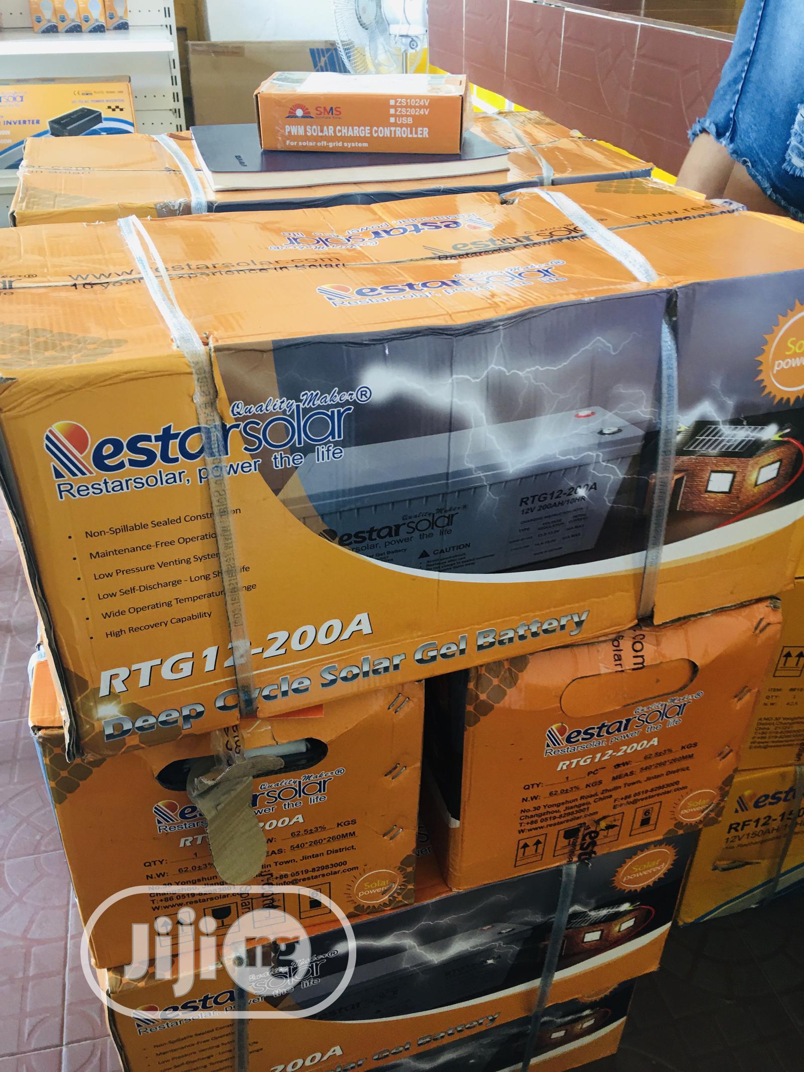 200ah 12v Restar Solar Battery