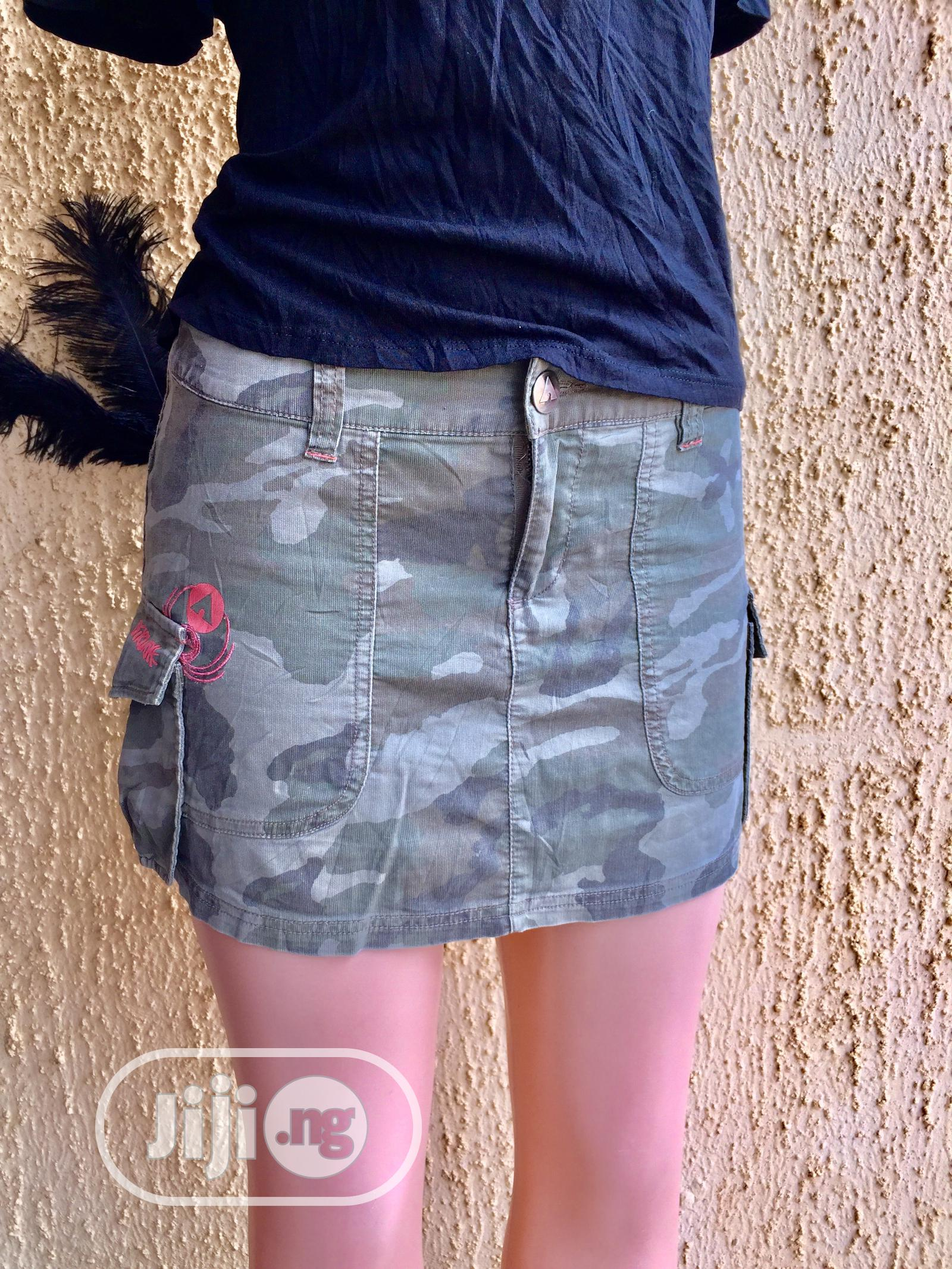 Short Camo Skirt | Clothing for sale in Alimosho, Lagos State, Nigeria