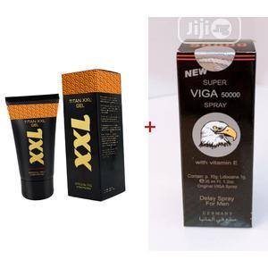 Titan XXL Gel And Vega Delay Spray | Sexual Wellness for sale in Lagos State, Shomolu