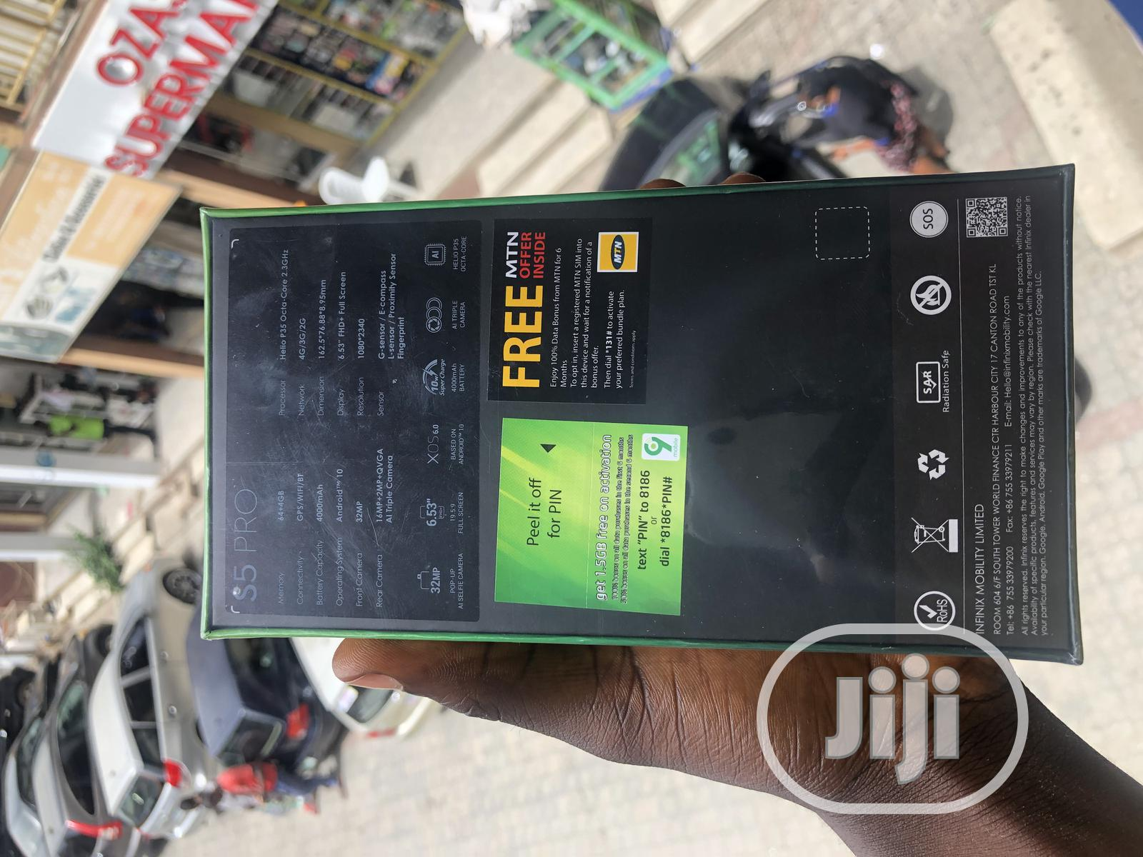 New Infinix S5 Pro 64 GB Blue   Mobile Phones for sale in Wuse 2, Abuja (FCT) State, Nigeria