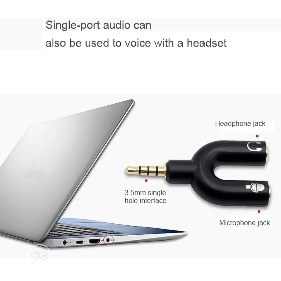 2 In 1 Connector U Type Adapter Mini Dual 3.5MM Headphone | Accessories & Supplies for Electronics for sale in Ikeja, Lagos State, Nigeria