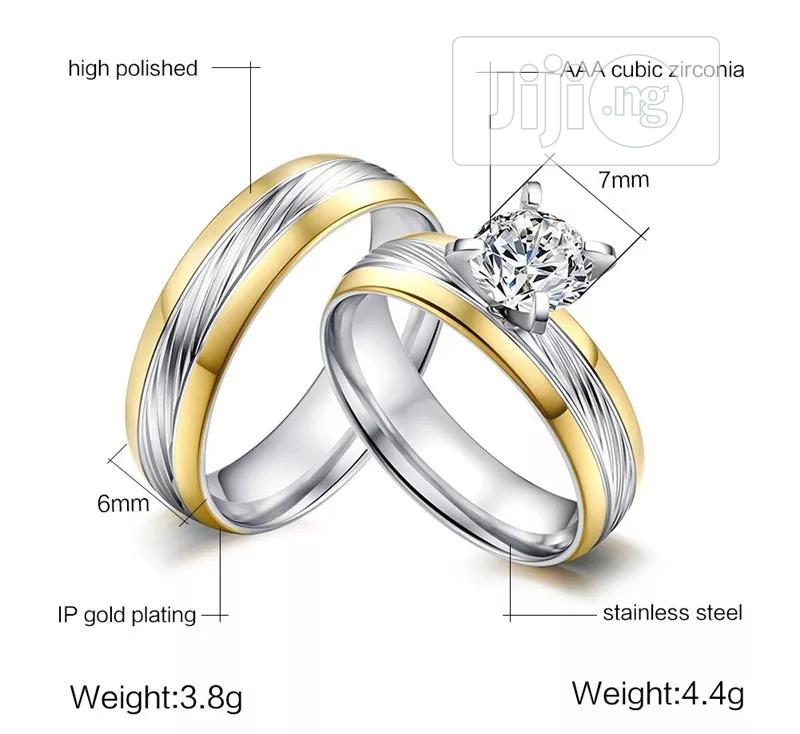 2 Tone Wedding Band | Jewelry for sale in Port-Harcourt, Rivers State, Nigeria