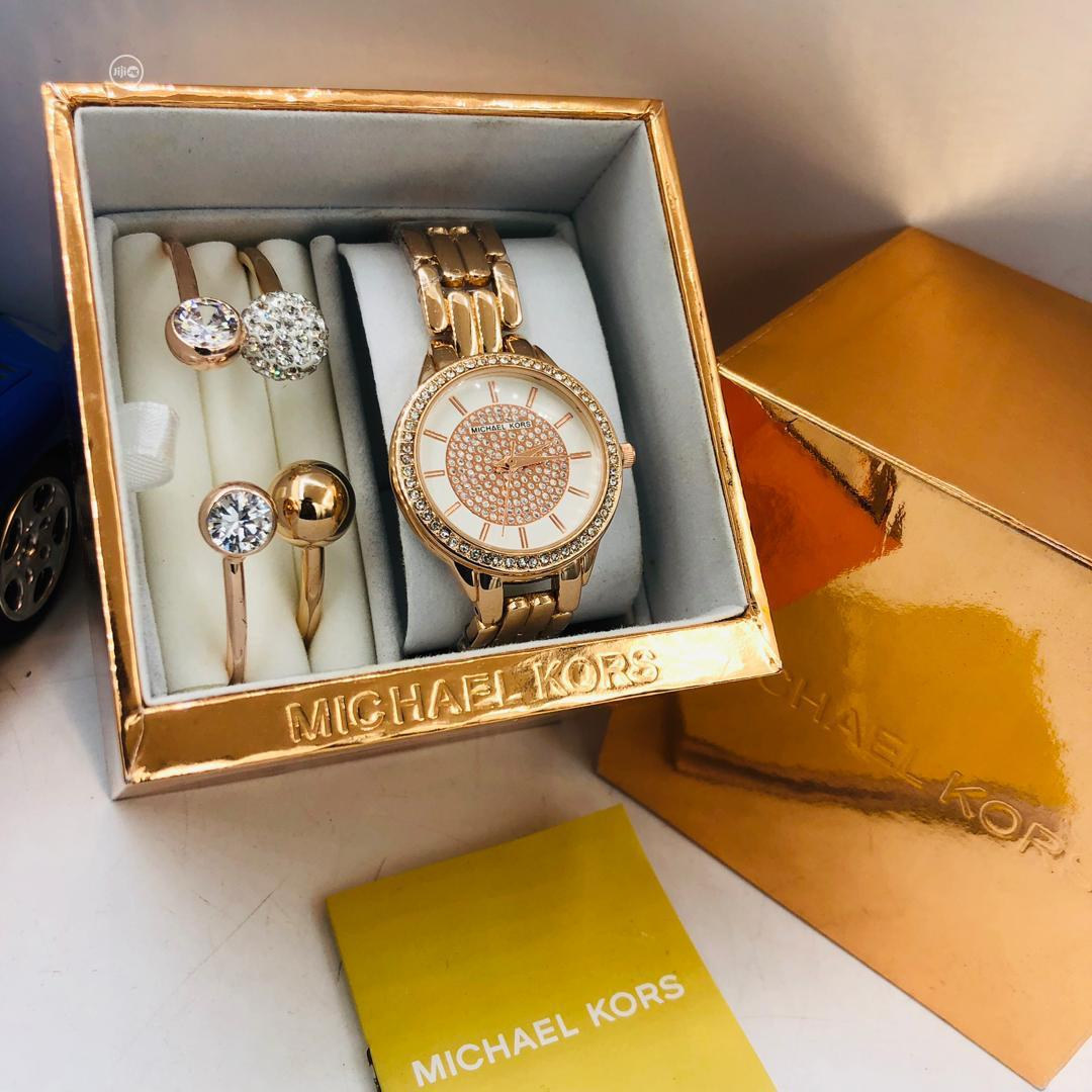 Premium Micheal Kors Designer Wrist Watch With Bracelet