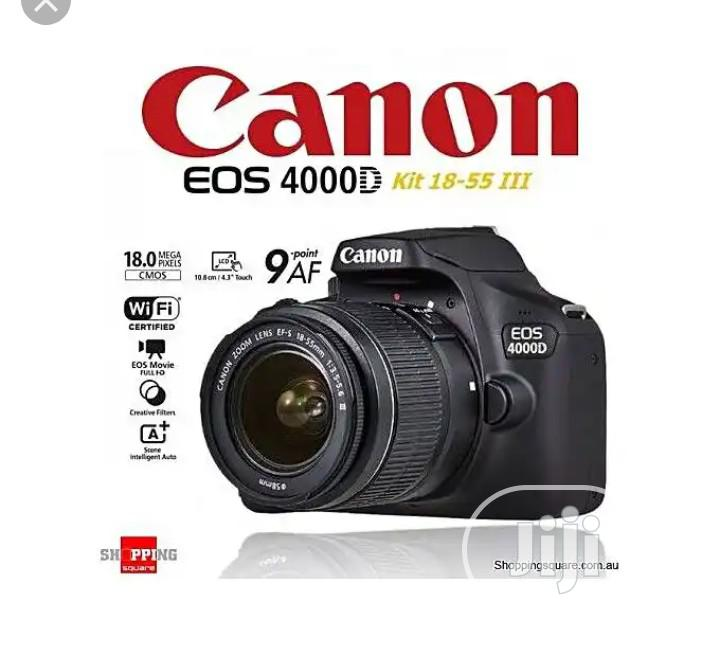 Canon EOS 4000D DSLR Camera With 18-55mm Lens | Photo & Video Cameras for sale in Ikeja, Lagos State, Nigeria