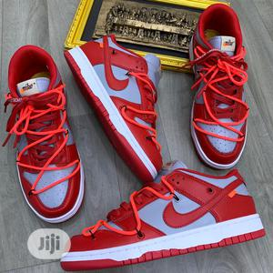 """Nike Dunk Low X Off White """"University Red""""   Shoes for sale in Lagos State, Lagos Island (Eko)"""