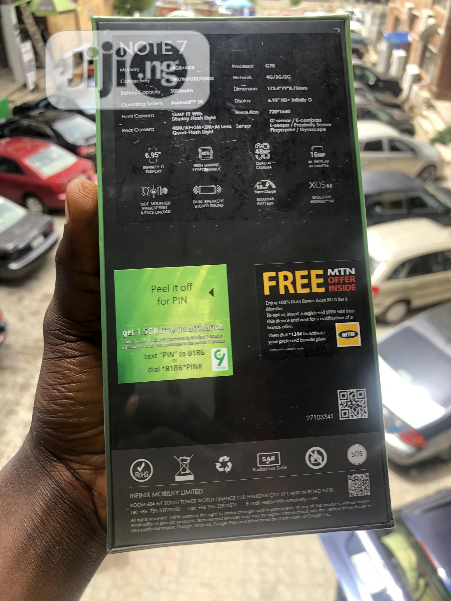 New Infinix Note 7 64 GB Blue | Mobile Phones for sale in Wuse 2, Abuja (FCT) State, Nigeria