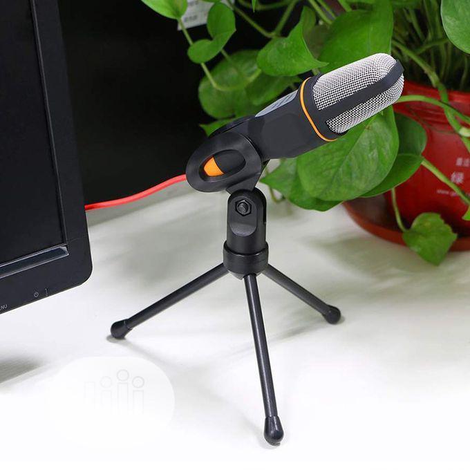 Studio Broadcasting Condenser Microphone With Mini Tripod For PC