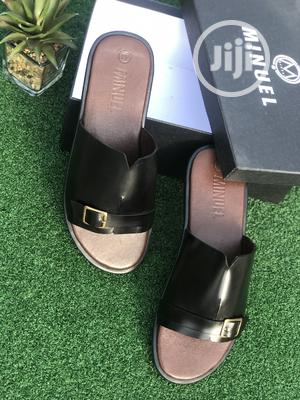 Black Leather Cover Palm With Side Buckle   Shoes for sale in Lagos State, Mushin