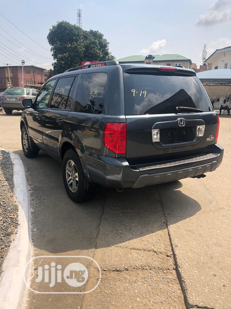 Honda Pilot 2004 EX-L 4x4 (3.5L 6cyl 5A) Gray | Cars for sale in Magodo, Lagos State, Nigeria