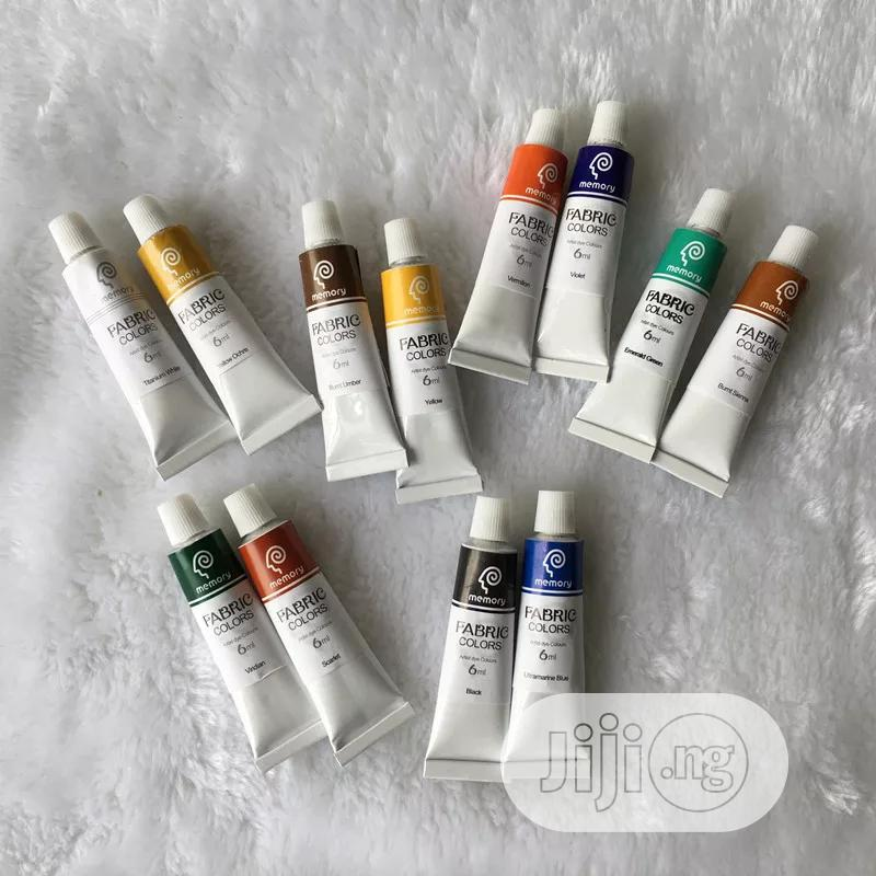 Professional Fabric Colours Paint Non Toxic12 Colors | Arts & Crafts for sale in Lagos Island (Eko), Lagos State, Nigeria
