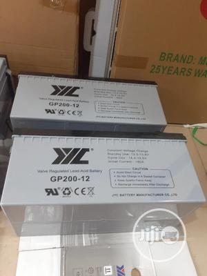 12v 200ah Jyc Battery Available | Solar Energy for sale in Lagos State, Ojo