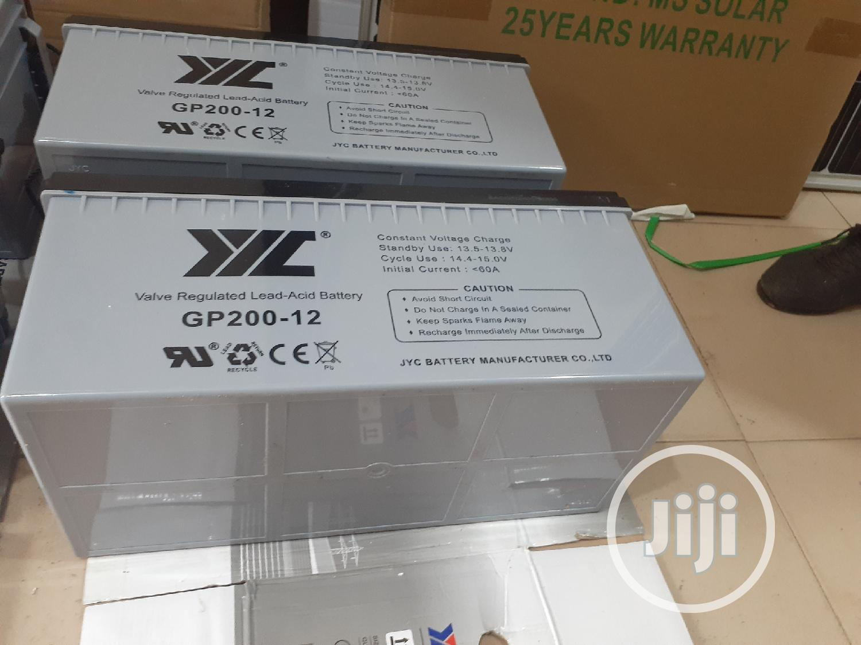 12v 200ah Jyc Battery | Solar Energy for sale in Ojo, Lagos State, Nigeria