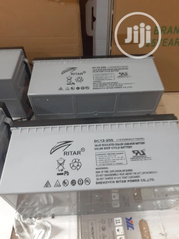 12v 200ah Rita Battery Available