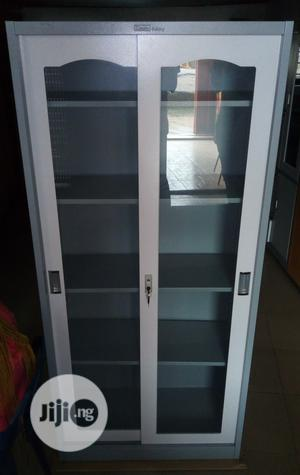Metal Fullheight Shelf Cupboard With Glass Sliding Doors | Furniture for sale in Lagos State, Ojo