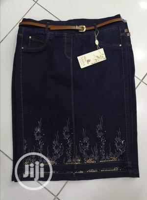 Turkey Jeans Skirt Fitted, Available In Black | Clothing for sale in Lagos State, Amuwo-Odofin