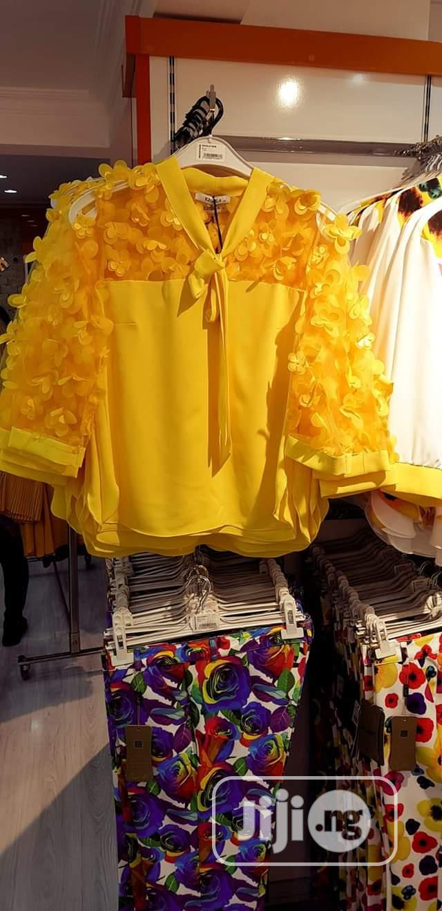 Yellow Designed Top Turkey Brand   Clothing for sale in Amuwo-Odofin, Lagos State, Nigeria