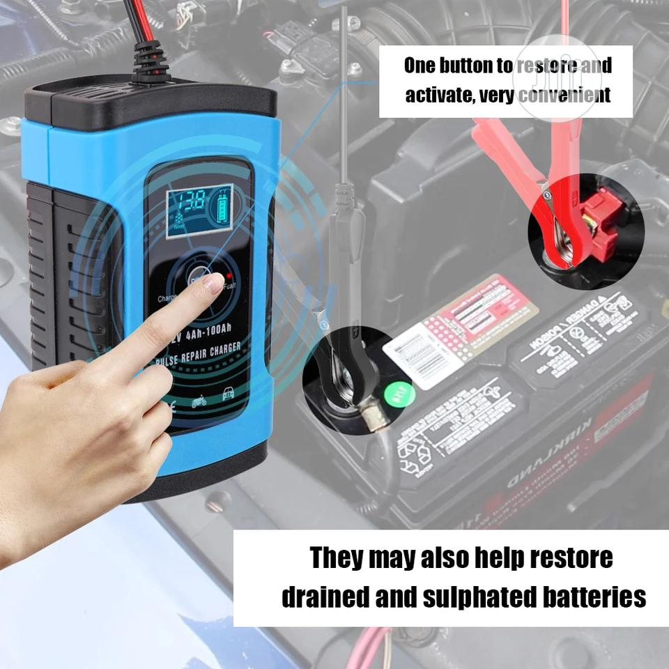 KKMOON 12V 6A Intelligent Full Automatic Car Battery Charger | Vehicle Parts & Accessories for sale in Ikeja, Lagos State, Nigeria