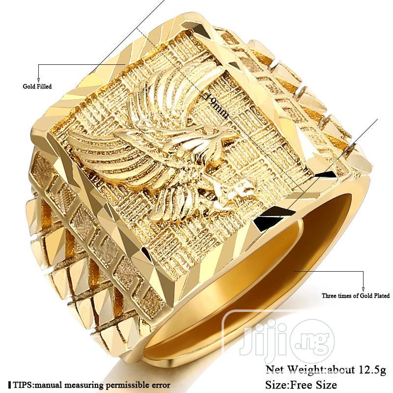 Eagle Men 's Ring Luxury Gold Color