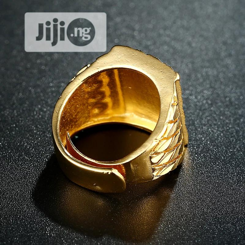 Eagle Men 's Ring Luxury Gold Color | Jewelry for sale in Ikeja, Lagos State, Nigeria