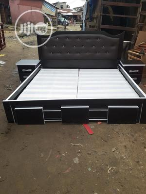 6by6 Bed Frame With Double Side Drawer   Furniture for sale in Lagos State, Ojo