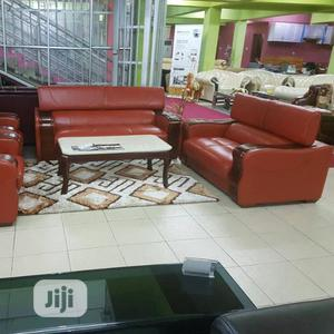 Unique And Quality Foreign Leather Sofa Chair By 7 Seaters | Furniture for sale in Lagos State, Lekki