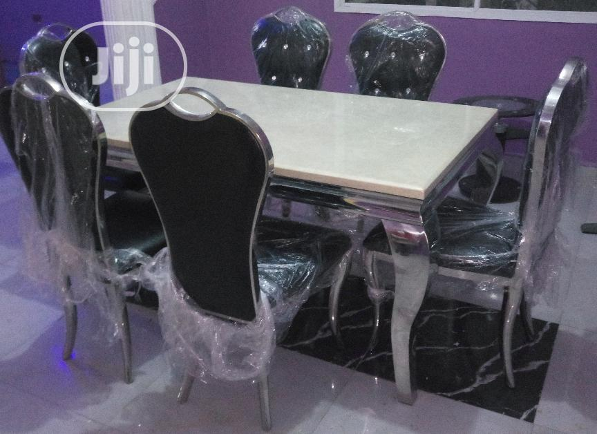 Quality Marble Dinning and Leather Chairs