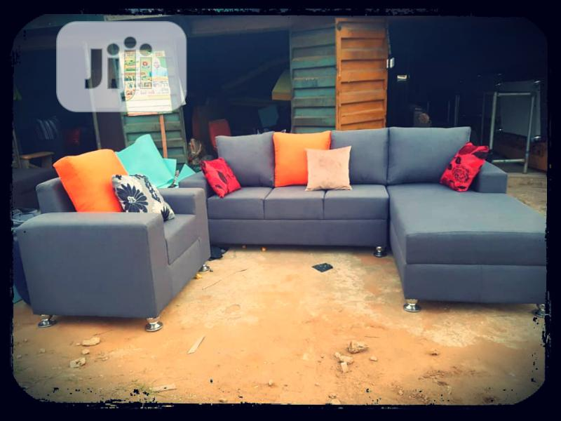 L- Shaped 7 Seater Fabric