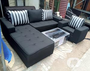 L-Shaped Fabric With Center Table | Furniture for sale in Lagos State, Ajah